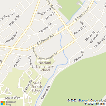 Map - VCA University Animal Hospital - 2728 Woodlawn Drive - Honolulu, HI, 96822