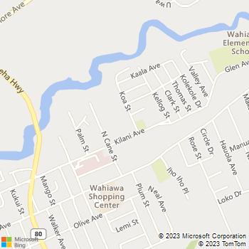 Map - Palms of Kilani - 1060 Kilani Ave - Wahiawa, HI, 96786