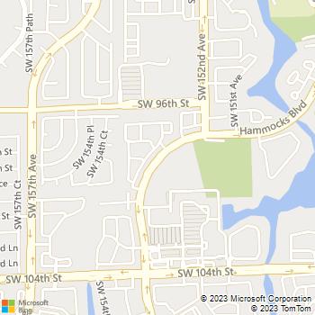 Map - Bridges At Kendall Place - 8485 Hammocks Blvd - Miami, FL, 33196