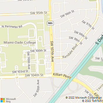 Map - Physiotherapy Associates - 9900 SW 107th Ave - Miami, FL, 33176