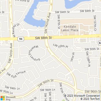 Map - Kings Colony - 8961 SW 142nd Avenue - Miami, FL, 33186