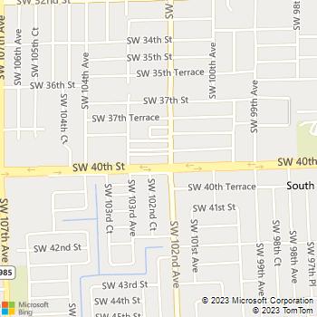 Map - Springtree I, II - 3940 SW 102nd Ave - Miami, FL, 33165