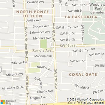 Map - 1700 Building Apartments - 1700 SW 37th Avenue - Miami, FL, 33134