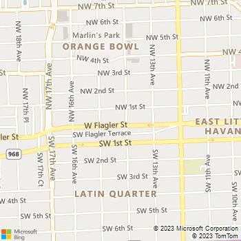 Map - Camacol Tower A Senior Community - 1401 West Flagler St. - Miami, FL, 33135
