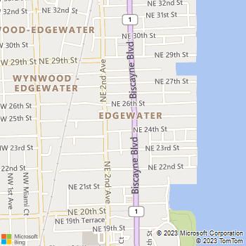Map - 25 Biscayne Park - 250 NE 25 St - Miami, FL, 33137