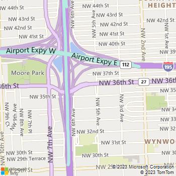 Map - Los Suenos - 500 NW 36th Street - Miami, FL, 33127