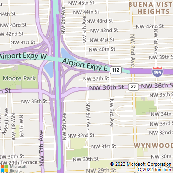 Map - Vista Mar - 3606 NW 5th Ave - Miami, FL, 33127