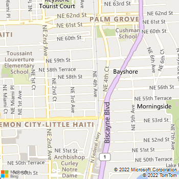Map - Pinnacle Place Apts. - 5600 NE 4th Ave - Miami, FL, 33137