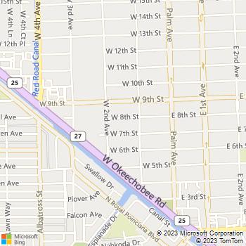 Map - Paradise Apartments - 150 W 8TH ST APT 26 - Hialeah, FL, 33010