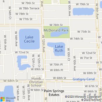 Map - Lake House Apartments - 7225 West 11th Court - Hialeah, FL, 33014