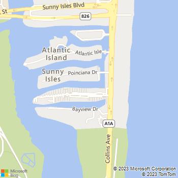 Map - Marina del Mar - 100 Kings Point Dr - North Miami Beach, FL, 33160