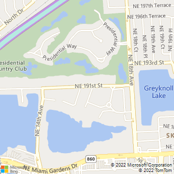 Map - Advenir at Presidential House - 1572 NE 191st St - Miami, FL, 33179
