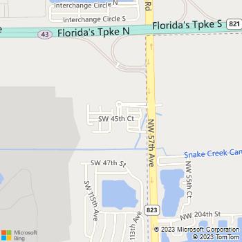 Map - IMT Miramar - 11338 SW 45th Place - Hollywood, FL, 33025