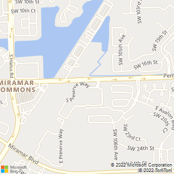 Map - Miramar Lakes - 10720 N Preserve Way - Hollywood, FL, 33025