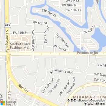 Map - The Resort at Pembroke Pines - 11801 Pembroke Rd - Hollywood, FL, 33025