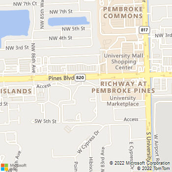 Map - Gatehouse at Pine Lake - 8530 SW 1st St - Hollywood, FL, 33025