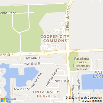 Map - VCA Rock Creek Animal Hospital - 9399 Sheridan St - Hollywood, FL, 33024