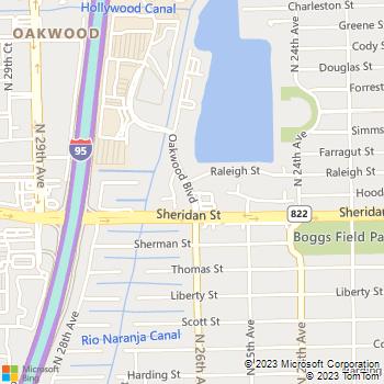 Map - Oak Gardens - 2481 Oak Garden Lane - Hollywood, FL, 33020