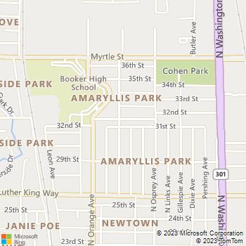 Map - Curb Appeal Lawn - 3110 Goodrich Avenue - Sarasota, FL, 34234