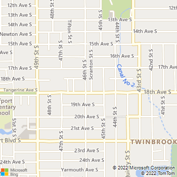 Map - Floridian Ground - 4555 18th Avenue South - Saint Petersburg, FL, 33711