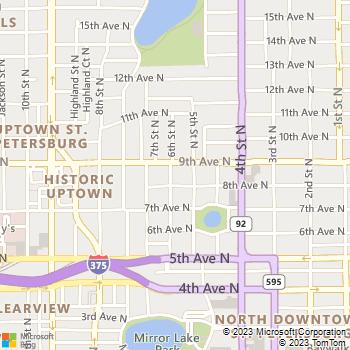 Map - Fresh Cutz Lawn Care - 819 6th Street North Apartment - Saint Petersburg, FL, 33704