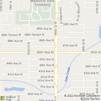 Map - Express Lawn Service - 4921 46th Avenue North - Saint Petersburg, FL, 33709