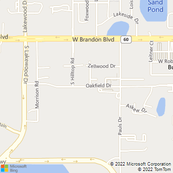 Map - Law Offices Of Garry Miracle - 1353 Oakfield Drive - Brandon, FL, 33511
