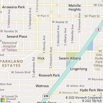 Map - James L Clark Attorney At Law - 701 S Howard Ave - Tampa, FL, 33606