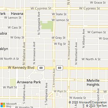 Map - Sandler & Perez, P.L. - 205 N. Armenia Ave. - Tampa, FL, 33609