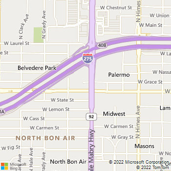 Map - Arbour Ponds Apartments - 2901 N Dale Mabry Hwy - Tampa, FL, 33607