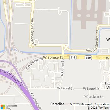 Map - Thrifty Car Rental - 5503 West Spruce Street - Tampa, FL, 33607