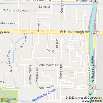 Map - Five West - 5150 Net Drive - Tampa, FL, 33634