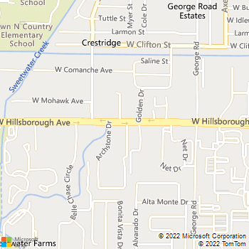 Map - Rocky Creek - 6820 W Hillsborough Ave - Tampa, FL, 33634