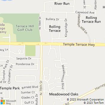 Map - Terrace Trace - 9135 Talina Ln - Tampa, FL, 33637
