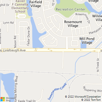 Map - Belt Engineering - 5004 West Linebaugh Avenue - Tampa, FL, 33624