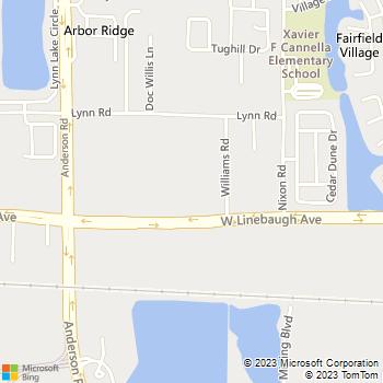 Map - Cass Plumbing Tampa Bay - 5555 W Linebaugh Ave - Tampa, FL, 33624
