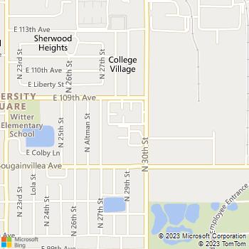Map - Ashford Place - 10610 N 30th St - Tampa, FL, 33612