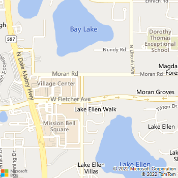 Map - VCA Animal Hospital - 13305 Orange Grove Drive - Tampa, FL, 33618