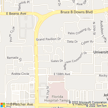Map - Ascott Place Apartments - 14003 Saulk Ct - Tampa, FL, 33613
