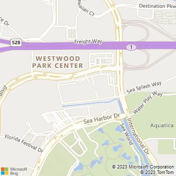 Map - Thrifty Car Rental - 10100 International Drive - Orlando, FL, 32821