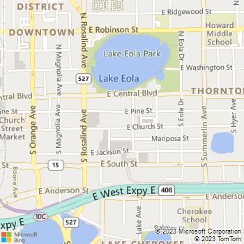 Map - St Regis Apartments - 319 E Church St - Orlando, FL, 32801