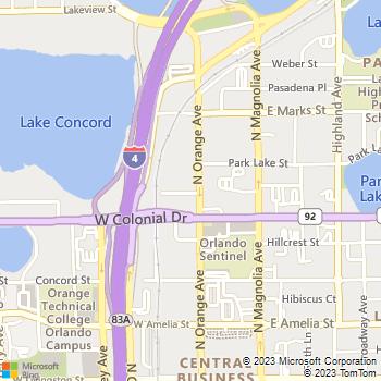 Map - Steelhouse - 750 N Orange Ave. - Orlando, FL, 32801