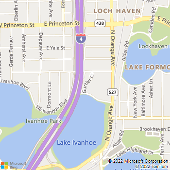 Map - Lake Ivanhoe Shores - 1730 Gurtler Ct - Orlando, FL, 32804