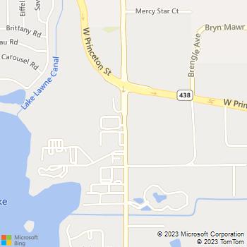 Map - Oak Glen - 2018 Mercy Drive - Orlando, FL, 32808