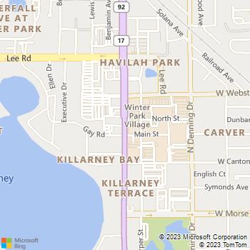 Map - Lofts Of Winter Park Village - 520 N Orlando Ave - Winter Park, FL, 32789