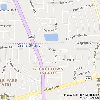 Map - Bishop Park - 3250 Bishop Park Dr - Winter Park, FL, 32792
