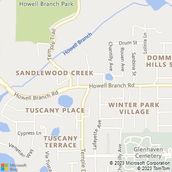 Map - VCA Howell Branch Animal Hospital - 1401 Howell Branch Rd - Winter Park, FL, 32789