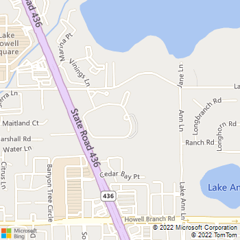 Map - Reflections Apartments - 100 Reflections Cir - Casselberry, FL, 32707