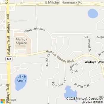 Map - Alafaya Woods - 407 Alafaya Woods Blvd - Oviedo, FL, 32765