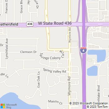 Map - Springs Colony - 264 Springs Colony Cir - Altamonte Springs, FL, 32714